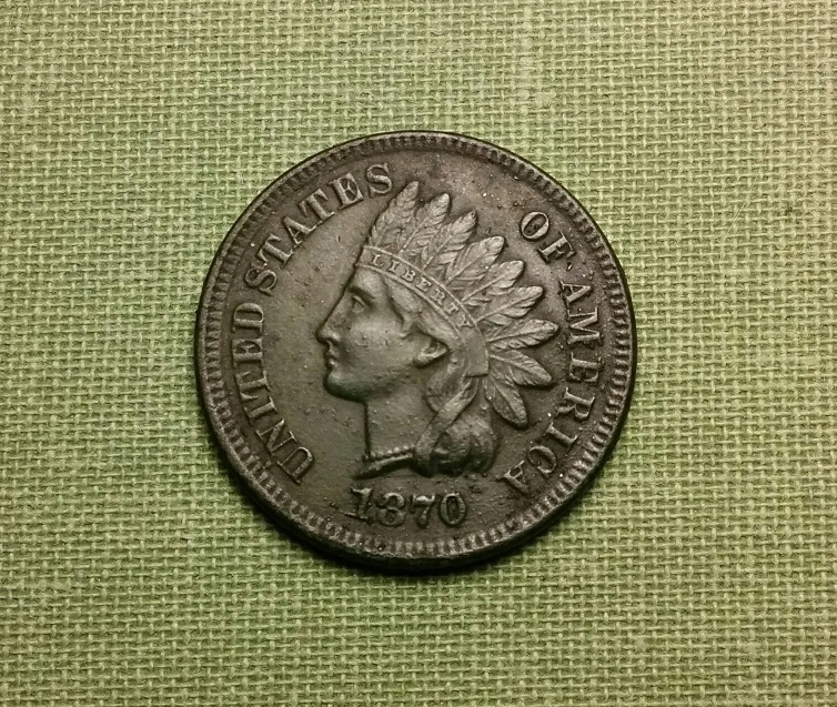 1870 Shallow N Semi Key Date Indian Head - AU Details