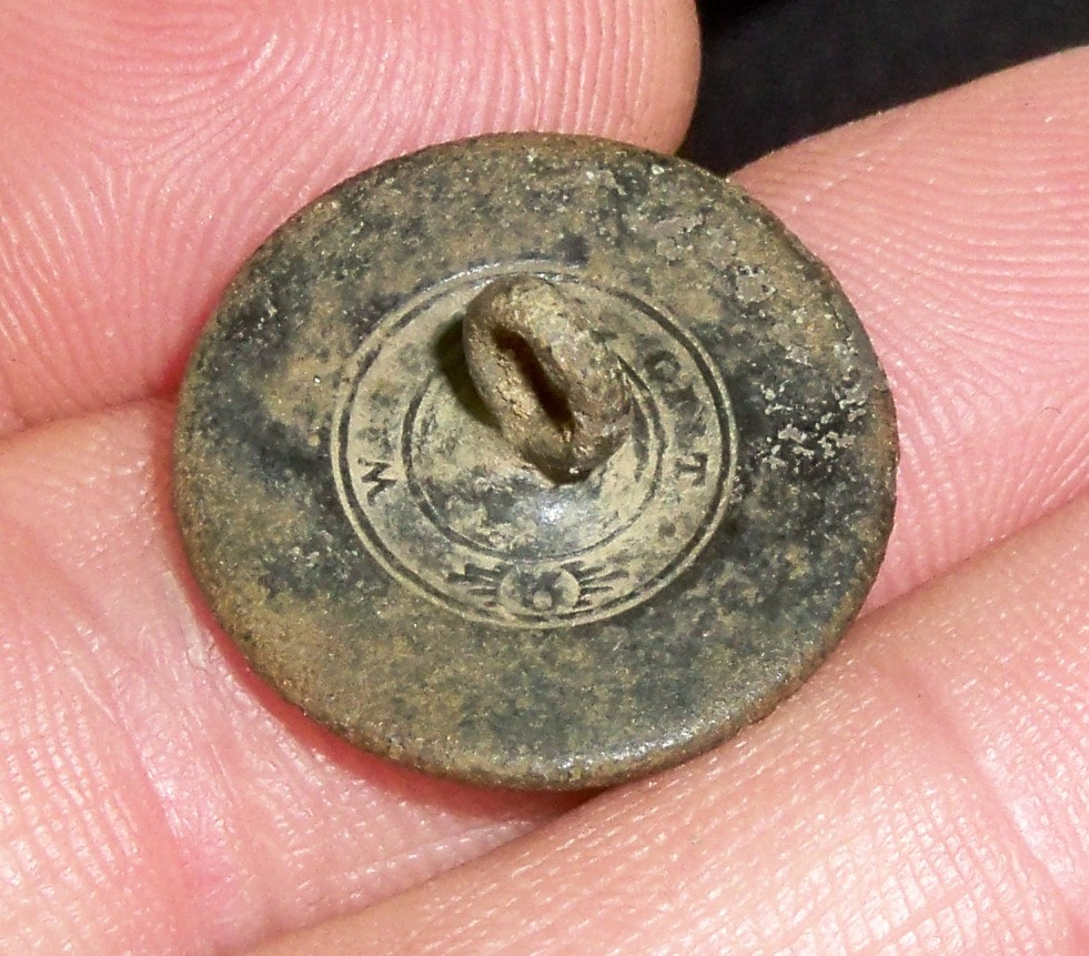 Flat Button circa early 1800s